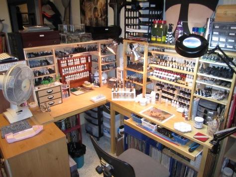 rangements de peinture geek lvl 60. Black Bedroom Furniture Sets. Home Design Ideas